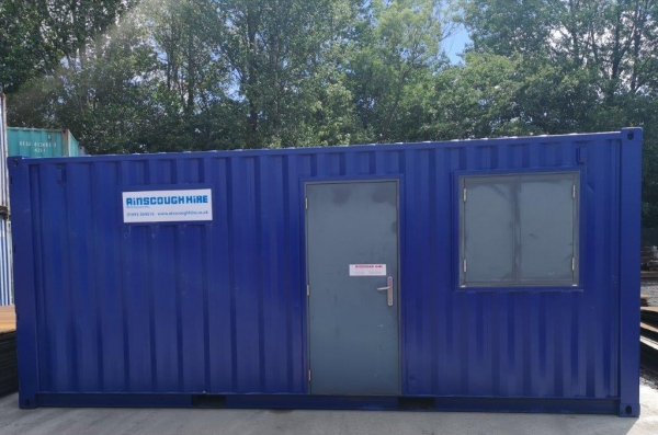 20ft Long 8ft Wide Blue 50/50 Office / Store Container / Cabin Unit / Newly Made  - Store