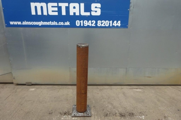 Made to Order Bolt Down Bollard 168.3 x 5mm Tube 1100mm High C/w Base Plate - Self Colour