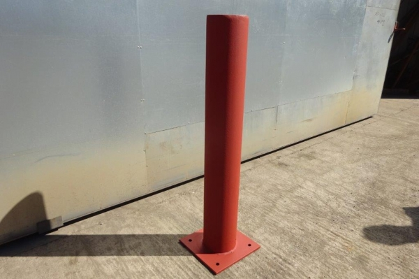 Made to Order Bolt Down Bollard 168.3 x 5mm Tube 1100mm High C/w Base Plate - Primer Painted