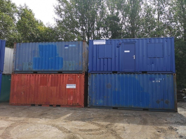 20 ft Long 8 ft Wide Various Colour Used Steel Storage Container / Cabin - Second Hand Container  - Store