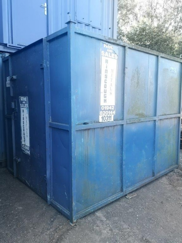 10 ft Long 8 ft Wide Blue Steel Storage Container - Second Hand  - Store