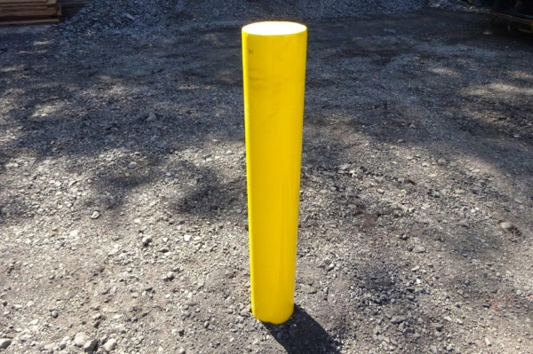 Made to Order Concrete in Bollard 168.3 x 5mm Tube 1700mm High - Painted Yellow