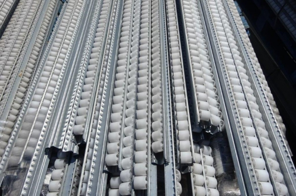 Bundle of 240no Bito Storage Systems Roller Tracks  With Plastic Rollers 2.400mtr Long,  / Roller Bed / Flow Rack / Pallet Flow / Carton Flow / Carton Storage - Used