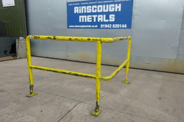Yellow Corner Handrail / Barrier 1.500mtr x 1.200mtr x 1.100mtr High, Used