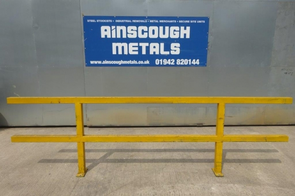 Bundle of Yellow Handrail / Barriers 1.015mtr High, Used