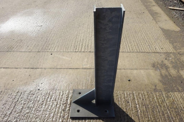 Used Galvanised Bolt Down 127 x 76 ub Crash Barrier Post  760 mm High
