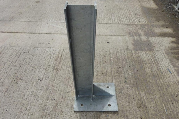 Used Galvanised Bolt Down 127 x 76 ub Crash Barrier Post  750 mm High