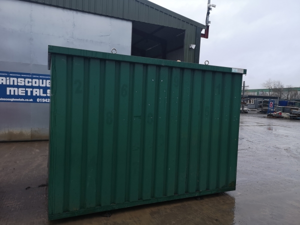 8ft Long 6ft 6 Wide Moss Green Expandastore / Storage Container / Shed / Store / Flatpack - Second Hand  - Store