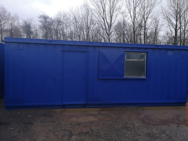 24ft Long 10ft Wide Blue Office / Canteen Cabin / Welfare / Anti-vandal / Portacabin - Refurbished / Second Hand  - Store
