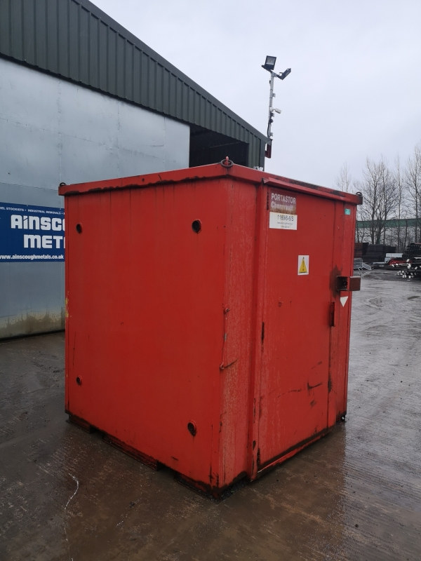 6ft Long 6ft Wide Red Storage Container / Chemical Vault / Chemical Store / Chemvault / Portastor - Second Hand  - Store