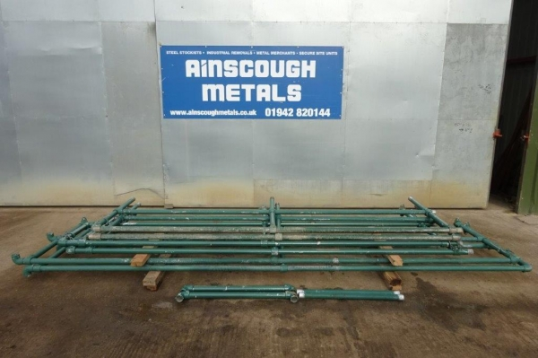 Used Bundle of Green Handrail With Posts 24.080 Linear Metres Approx Overall