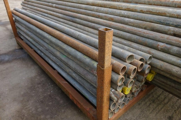 6\' 0\'\' to 7\' 0\'\' Random Length of 48.3mm x 4mm Used Galv ex Scaffold Tube - Circular Hollow Section - Steel Tube - Drainage - Water Pipe