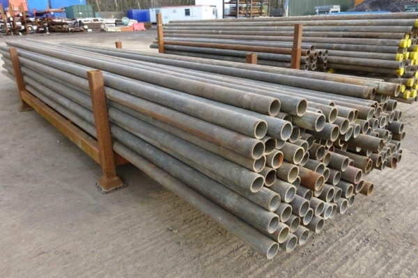 13\' 0\'\' Random Length of 48.3mm x 4mm Used Galv ex Scaffold Tube - Circular Hollow Section - Steel Tube - Drainage - Water Pipe