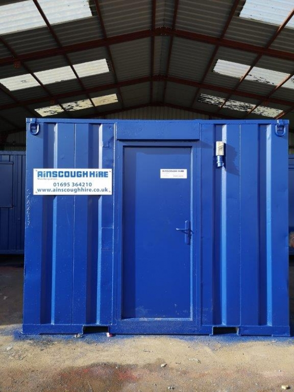 10ft Long 8ft Wide Blue Office Unit / Security Cabin / Store - Newly Refurbished  - Store