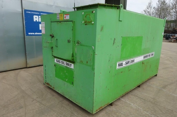 Green Fuel Safe 2000 Steel Bunded Tank 3.440mtr x 1.830mtr x 1.800mtr - Second Hand