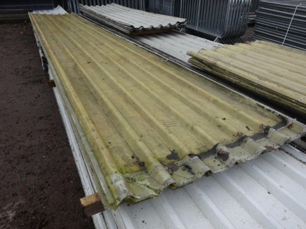 Second Hand Box Profile Roof Lights 6.350 Mtr x 1.000 Mtr Cover