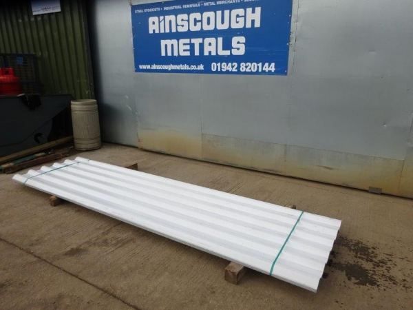 New 3.500mtr x 0.850 Mtr Cover  White  Polymer Coated Box Profile Roofing Sheets