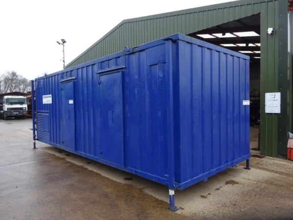 24ft Long 9ft Wide Blue Anti-vandal Welfare Unit / Self-contained / Office / Canteen / Toilet / Generator Room - Refurbished / Second Hand  - Store