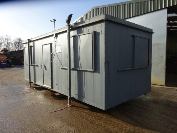 24ft Long 10ft Wide Grey Anti-vandal Office / Canteen / Cabin / Welfare Container / Unit - Second Hand  - Store