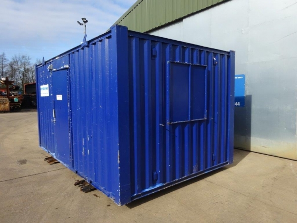 16ft Long 9ft Wide Blue Anti-vandal Office / Canteen / Cabin / Welfare Container / Unit - Second Hand  - Store