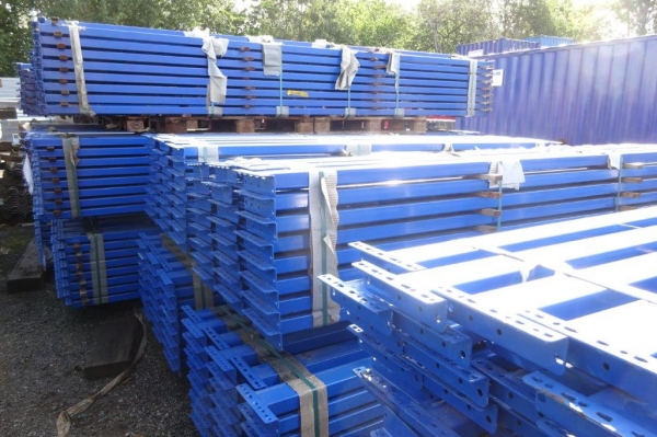 Used Bito Storage Systems 2.690 Mtr Closed Beam Blue Cross Bar / Beam 95 mm x 50 mm - Industrial Steel Racking - Not Redirack, Dexion, Planned Storage, Link 51 or Stakrak