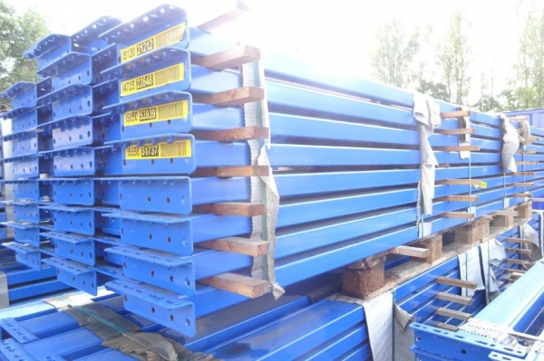Used Bito Storage Systems 3.890 Mtr Closed Beam Blue Cross Bar / Beam 130 mm x 50 mm - Industrial Steel Racking - Not Redirack, Dexion, Planned Storage, Link 51 or Stakrak