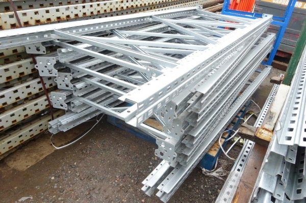 Used Bito Storage Systems 2.500 Mtr x 900 mm Galvanised Upright Frames - Racking Industrial Steel Racking - Shelving - Storage - Not Redirack, Dexion, Planned Storage, Link 51 or Stakrak