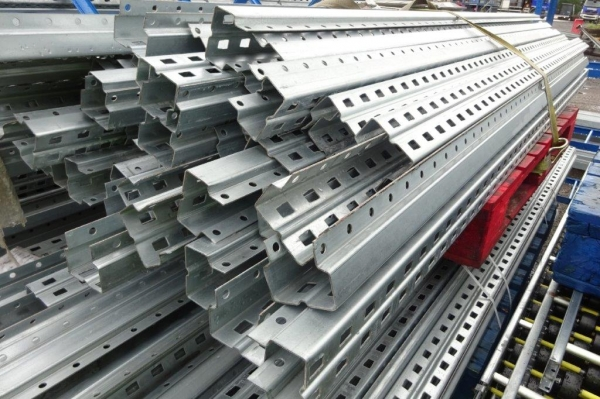 Used Bito Storage Systems 2.500 Mtr Galvanised Uprights - Racking - Industrial Steel Racking - Shelving - Storage - Not Redirack, Dexion, Planned Storage, Link 51 or Stakrak