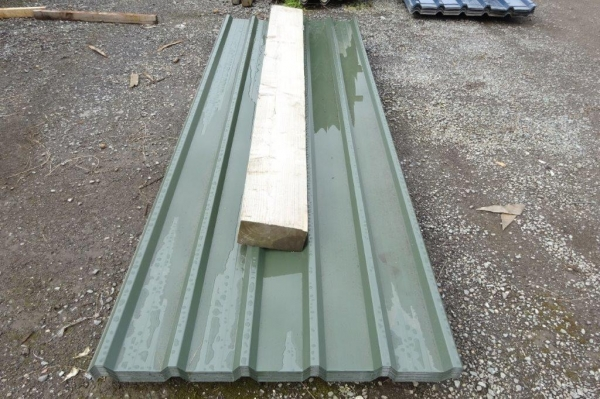 New 10 ft x 1.000 Mtr 0.7mm Juniper Green  Plastisol Coated Box Profile Roofing Sheets