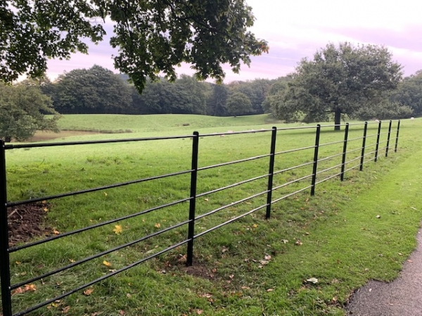 Estate Fencing / Fence Plain Galvanised 1.200mtr High - Price Per Linear Metre **made to Order**