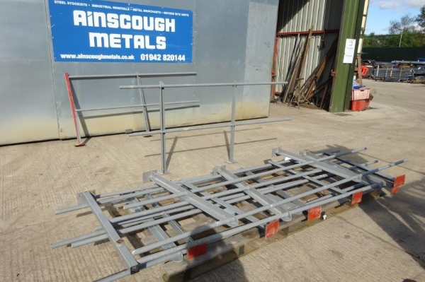 Used Bundle of Grey Handrail With Posts 20.520 Linear Metres Approx Overall