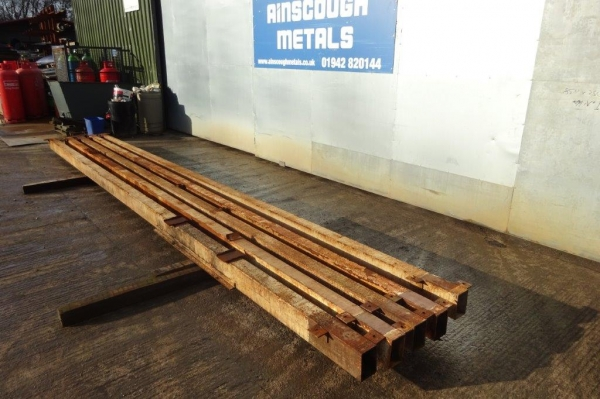 6.300 Mtr of 150 mm x 100 mm x  5 mm Steel Box Section  ( 150 x 100 x 5 mm Box Section 6.300 Mtr Painted - C/w Holes & Cleats - Used )