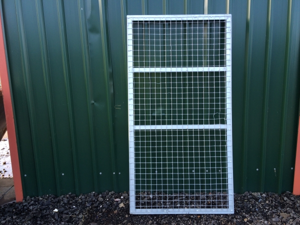 Galvanised Mesh Panels 1.875 Mtr x 1.100 Mtr Ideal Use as Fence Panel - Gate