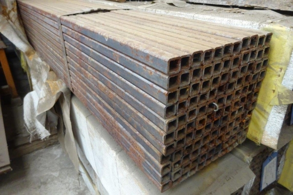 7.600 Mtr of 20 mm x 20 mm x  2 mm Steel Box Section  ( Unused Slight Stock Rusty )