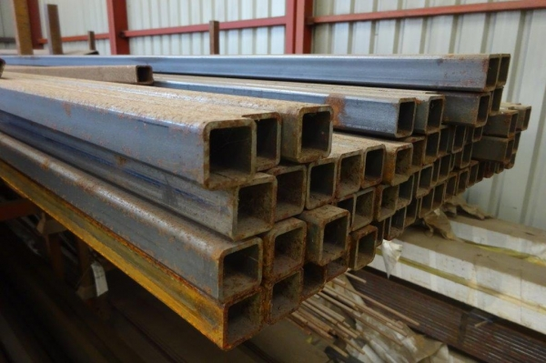 7.600 Mtr of 25 mm x 25 mm x  2.5 mm Steel Box Section  ( Unused  )