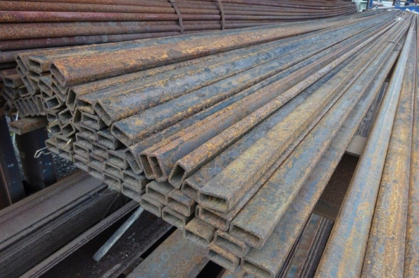 7.500 Mtr of 40 mm x 20 mm x  3 mm Steel Box Section  ( Unused Stock Rusty )