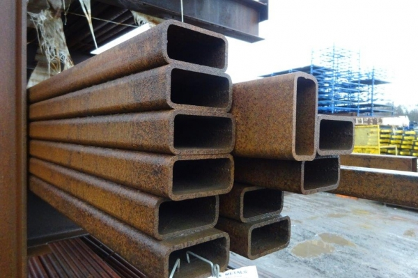 7.600 Mtr of 100 mm x 50 mm x  6 mm Steel Box Section  ( Unused Stock Rusty )