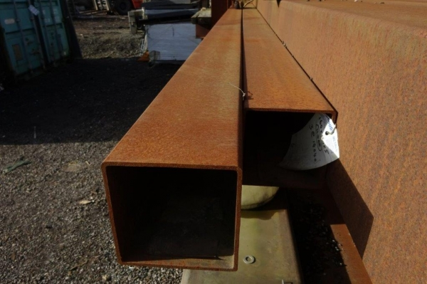 14.050 Mtr of 160 mm x 160 mm x  5 mm Steel Box Section  ( Unused Stock Rusty )