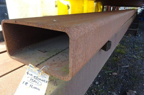 12.000 Mtr of 400 mm x 200 mm x  12.5 mm Steel Box Section  ( Unused Stock Rusty )