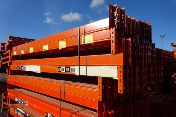 Used Redirack 2.700 Mtr Closed Beam Orange Cross Bar / Beam 110 mm x 50 mm - Industrial Steel Racking - Not Link 51, Dexion, Planned Storage, or Stakrak