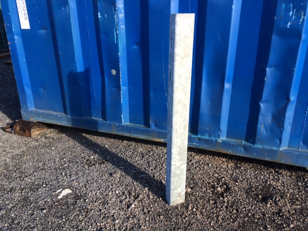 Galvanised Fracasso c Section Post 120mm x 80mm x 1.250 Mtr High