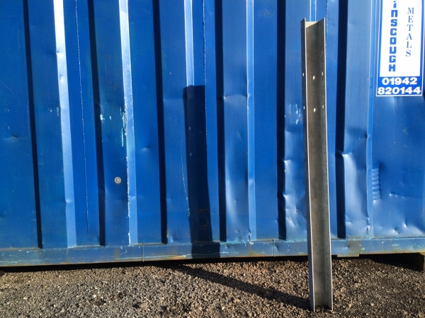 Galvanised Steel Barrier Post / Security Post 1.750mm High x 120mm Width x 80 Depth mm c Section