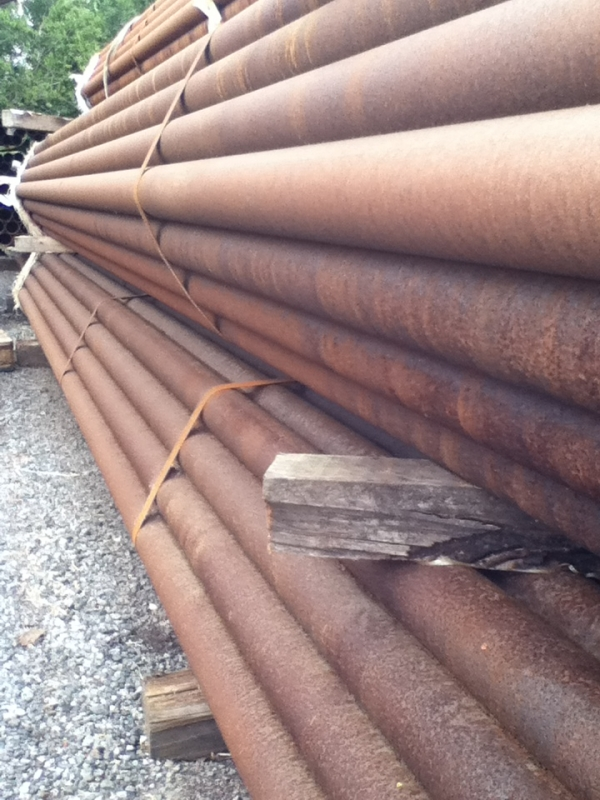 5.850mtr Lengths of 76.1mm x  3.6mm  Unused Varying Atmospheric Rust - Stock Rusty Steel Tube - Chs - Steel Pipe Drainage - Water Pipe