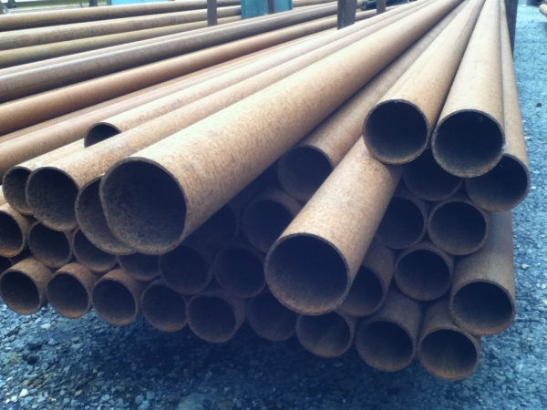 7.500 Mtr Lengths of 76.1mm x  3.2mm  Unused Varying Atmospheric Rust - Stock Rusty Steel Tube - Chs - Steel Pipe Drainage - Water Pipe