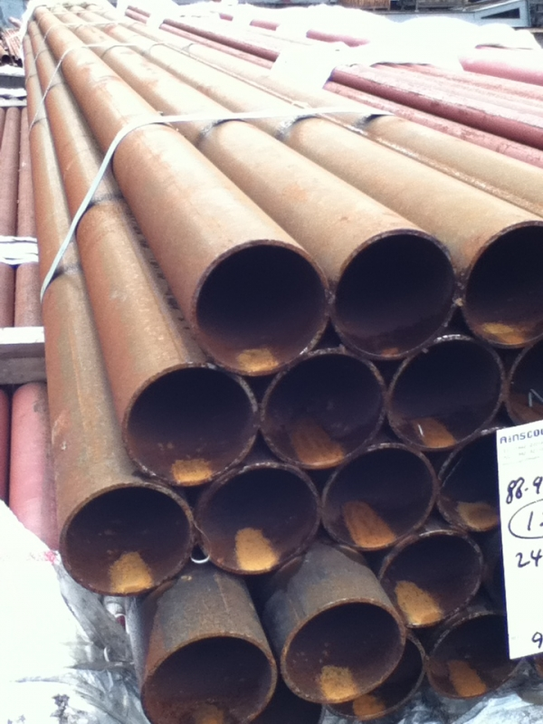6.400 Mtr Lengths of 88.9mm x   4mm Unused Varying Atmospheric Rust - Slight Atmospheric Rust Steel Tube - Chs - Circular Hollow Section Drainage - Water Pipe