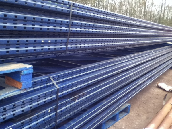Used Redirack 10.800 Mtr High x 900 mm Wide Blue Upright Frames - Racking Industrial Steel Racking - Shelving - Storage - Not Dexion, Planned Storage, Stakrak or Link 51
