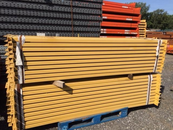Unused Link 51 2.420 Mtr Yellow Cross Bar / Beam 85 mm x 40 mm - Industrial Steel Racking - Not Redirack, Dexion, Planned Storage or Stakrak