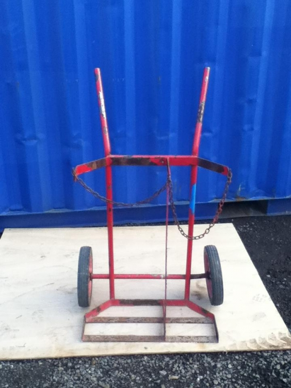 Second Hand Red Two Wheel Bottle Truck